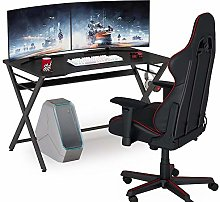 Tribesigns Gaming desk with Cup Holder&Headphone