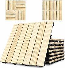 Triclicks 9 pcs Decking Tile, Thick Hardwood