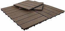 Triclicks Decking Tiles, 30×30cm 10 Tiles = 0.9