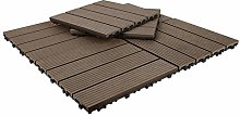 Triclicks Decking Tiles, 30×30cm 20 Tiles = 1.8