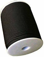 Trimming Shop 3mm Wide Black Nylon Braided Cord