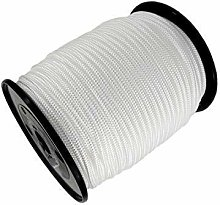 Trimming Shop 3mm Wide White Nylon Braided Cord