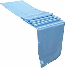 Trimming Shop Baby Blue Satin Table Runners For