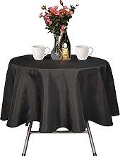 Trimming Shop Black Round Tablecloth Premium