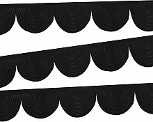 Trimming Shop Curtain Swag Black Ice Silk