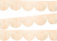 Trimming Shop Curtain Swag Rose Gold Ice Silk