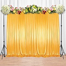 Trimming Shop Gold Silk Pleated Backdrop Curtain