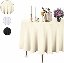 Trimming Shop Ivory Round Tablecloth Linen Banquet