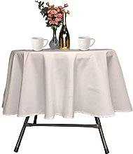 Trimming Shop Ivory Round Tablecloth Premium