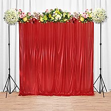 Trimming Shop Red Silk Pleated Backdrop Curtain