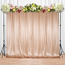 Trimming Shop Rose Gold Silk Pleated Backdrop