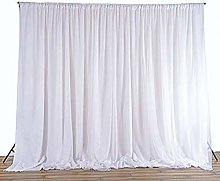 Trimming Shop White Silk Pleated Backdrop Curtain