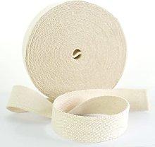 Trimz 10mtr roll of 25mm Ecru Cotton Webbing, 10m x