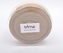 Trimz Webbing, Cotton, Beige, 10m x 40mm