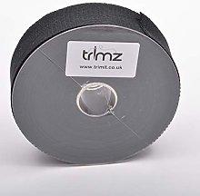 Trimz Webbing, Cotton, Black, 10m x 40mm