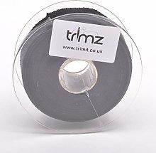 Trimz Webbing, Cotton, Black, 5m x 30mm