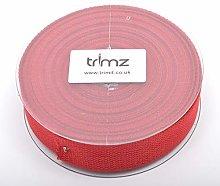 Trimz Webbing, Cotton, Dark Red, 10m x 30mm