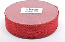 Trimz Webbing, Cotton, Dark Red, 10m x 40mm