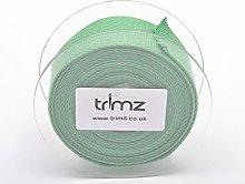 Trimz Webbing, Cotton, Moss, 5m x 30mm