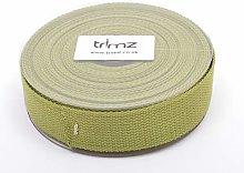 Trimz Webbing, Cotton, Olive, 10m x 30mm