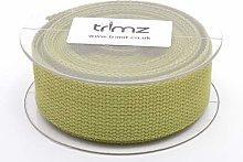 Trimz Webbing, Cotton, Olive, 5m x 30mm