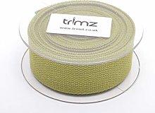 Trimz Webbing, Cotton, Olive, 5m x 40mm