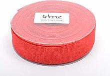 Trimz Webbing, Cotton, Red, 10m x 30mm