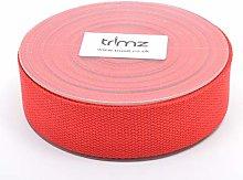 Trimz Webbing, Cotton, Red, 10m x 40mm