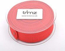 Trimz Webbing, Cotton, Red, 5m x 30mm