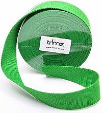 Trimz Webbing, Green, 10Mtrs x 30mm