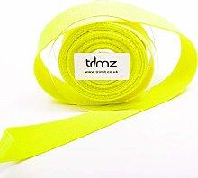 Trimz Webbing, Neon Yellow, 5Mtrs x 30mm