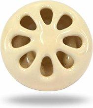 TRINCA-FERRO Set of 6 Ceramic Retro Knob Cream