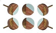 TRINCA-FERRO Set of 6 Round Adington Cupboard