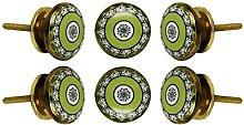 TRINCA-FERRO Set of 6 Tessellate Cabinet Knobs