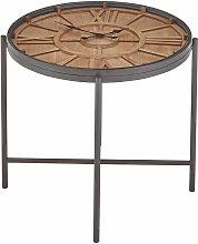 Trinity Round Clock Side Table - Premier Housewares