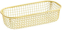 Trinkets Basket - / Rectangular - Wire mesh by Hay