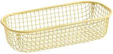 Trinkets Basket - / Rectangular - Wire mesh by Hay