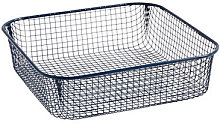 Trinkets Basket - / Square - Wire mesh by Hay Blue