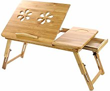 Trintion Bamboo Laptop Desk Laptop Notebook Table