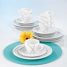Trio 18-Piece Porcelain Coffee Service Set