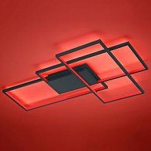 Trio WiZ Thiago LED ceiling light 114cm anthracite