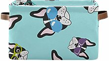 TripicalLife Laundry Hamper French Bulldogs With