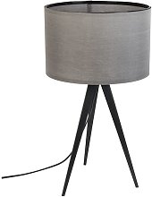 Tripod black and grey table lamp