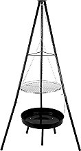 Tripod Charcoal BBQ Grill, TOPQSC Outdoors Cooking
