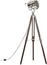 Tripod Floor Lamp Solid Mango Wood 180 cm - Brown