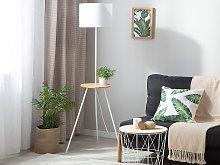 Tripod Floor Lamp White Linen Round Lampshade