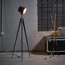 Tripod LED Standard Floor Lamp Rose Gold Modern