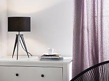 Tripod Table Lamp Black Drum Shade Industrial
