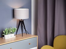 Tripod Table Lamp Grey with Black Base Drum Shade