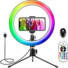 Tripod with Ring Light,Ring Light for iPhone